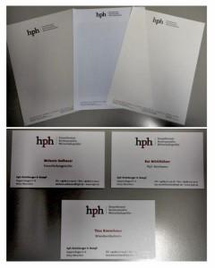 Logo-Kreation und Geschäftsausstattung am Beispiel hph