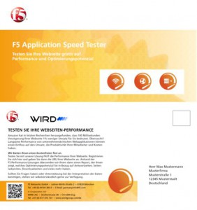 F5 Networks: Postkartenmailing 2013